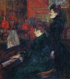 The Singing Lesson. (The Teacher, Mlle.Dihau, with Mme.Faveraud) - Henri de Toulouse-Lautrec