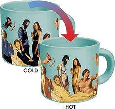 Great Nudes Heat Changing Coffee Mug - Add Hot Liquid and Watch the Figures Change From Prudes to Nudes - Comes in a Fun Gift Box - by The Unemployed Philosophers Guild