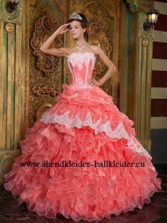 Anmutiges Abschlussballkleid Brautkleid Online in Lachs