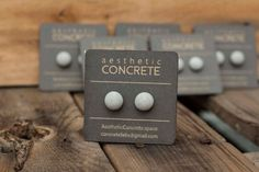 Hand-crafted Half Dome Concrete Earrings   Our earrings are paired with metal…