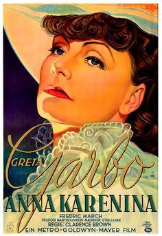 Anna Karenina Vintage Poster (artist: Schulz Neudamm, Heinz) Germany c. Movie Posters For Sale, Classic Movie Posters, Movie Poster Art, Classic Films, Maureen O'sullivan, Anna Karenina, Old Movies, Vintage Movies, Indie Movies