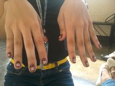 It's my Domo Kun Nail art!<3<3
