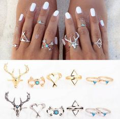 Find More Rings Information about 6PCS/Set Fashion Vintage Bohemian Turkish Midi Ring Set Steampunk Deer Arrow Antler Knuckle Rings Women Anel Joint Ring XY R72,High Quality ring note,China ring day Suppliers, Cheap ring screen from xiyanike Jewellery Store on Aliexpress.com