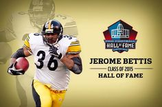Congrats  Bus!!!! #36 JEROME BETTIS (MY ALL TIME FAV RB) PITTSBURGH  STEELER!!!! ♡♡♡ Pittsburgh Steelers Players, Pittsburgh Sports, Best Football Team, Steelers Football, National Football League, Football Fans, Football Helmets, Steelers Stuff, Nfl Hall Of Fame