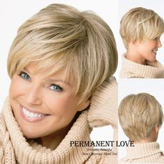 Cheap wig long, Buy Quality wigs that look real directly from China wig headband Suppliers: Natural Straight blonde wig with bangs short pixie cut hairstyle Heat Resistant Synthetic hair wigs for Women peluca