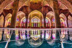 Nasir al-Mulk or Pink mosque , Shiraz, Iran. (Photo by Mohammad Reza Domiri Ganj)