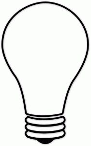 Handy image in light bulb template printable