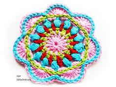 Freeform Crochet, Crochet Art, Love Crochet, Crochet Motif, Mandala Crochet, Crochet Flats, Modern Crochet Patterns, Knitted Flowers, Crochet Accessories