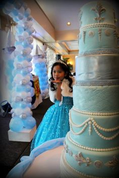 A Royal Ball: Gabrielle Emily's 7th Birthday Celebration 7 tier cake for a lucky 7 y/o girl