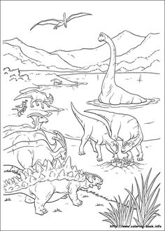 http://ColoringToolkit.com --> Dinosaure coloring picture --> If you're ready to buy the best adult coloring books and supplies including colored pencils, watercolors, gel pens and drawing markers, logon to our website shown above. Color... Relax... Chill.