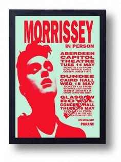 Morrissey Framed Gig Poster Print by indieprints on Etsy