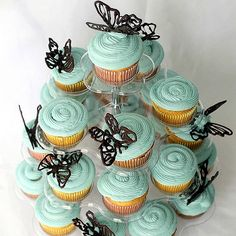 Chocolate Butterfly Cupcake Toppers