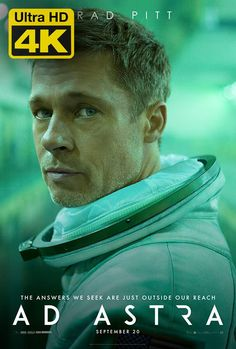 Brad Pitt in the new poster for Ad Astra! Are you looking forward to this movie? We hope its a good one! Tommy Lee Jones, Brad Pitt, Donald Sutherland, Liv Tyler, Michael Collins, Dwayne Johnson, Thriller, Peliculas Online Hd, Tomy