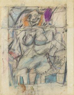 Willem de Kooning, Seated Woman,1952 on ArtStack #willem-de-kooning #art