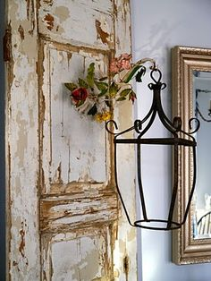 Going here bought Shabby Chic Home vintage Shabby Chic Mode, Casas Shabby Chic, Shabby Chic Vintage, Shabby Chic Style, Shabby Chic Decor, Vintage Decor, Rustic Style, Rustic Decor, Antique Doors