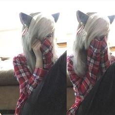 Imagen de neko, scene girl, and scene hair