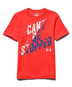This Bolt Orange 'Can't Be Stopped' Tee - Boys by Under Armour® is perfect! #zulilyfinds