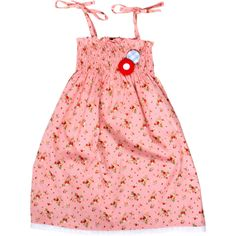 Oobi  Celeste retro ruche dress - strawberry