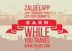 Traveling to your favorite destination?  Use #ZaldeeApp (www.zaldee.com) and earn while you travel . List your journey & earn. Try it for free. It's quick & easy ❤️ Download ZALDEE app.  Zaldee® connects travelers and senders  Traveler - earn while you travel® by utilizing excess baggage space available with you while traveling anywhere across countries, states or cities.  #ZALDEE #EarnWhileYouTravel #ZaldeeApp #ShipOnDemand #package #luggage #baggage #journey #courier #Shipping #travel