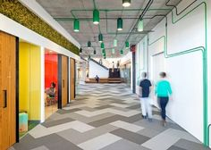 Cisco's Cool Offices In San Francisco. LIke the way they painted the pipes to be part of the design