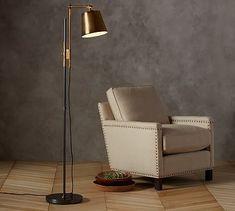 61 best lighting floor lamps images on pinterest floor knox bronze brass task floor lamp aloadofball Image collections