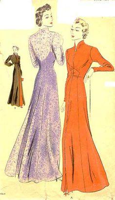 Vogue 7835 | ca. 1937 House coat or evening wrap