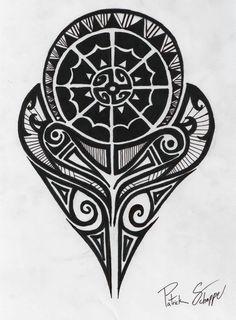 Black Polynesian Strength Tattoo Design