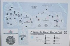 Map of Water Works Park Cuyahoga Falls Ohio
