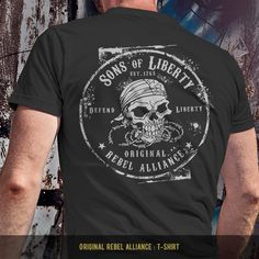 Original Rebel Alliance : T-Shirt T-SHIRT SALE 15% OFF. Use code: SHIRTS15 - Available in tees, tanks and hoodies. - Made in America. - Printed on front or back. - Mens and womens shirts and designs. - Available in Black, White, Navy, Pink, Purple, Heather Gray and Military Green.