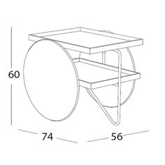 Coffee table - kitchen trolley Casamania Chariot design GamFratesi