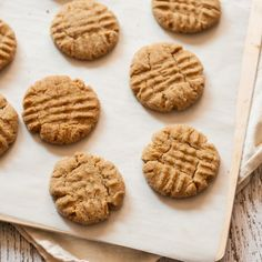 The Best Vegan Peanut Butter Cookies - perfect for making ice cream sandwiches!