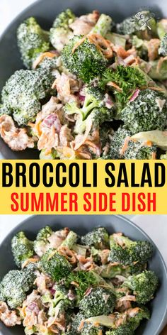 Cold Side Dishes, Picnic Side Dishes, Barbecue Side Dishes, Summer Side Dishes, Best Side Dishes, Vegetable Side Dishes, Vegetable Recipes, Best Broccoli Salad Recipe, Healthy Broccoli Salad