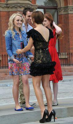 Harry Potter Actors Photo: Emma Watson and Evanna Lynch, Bonnie Wright   so glamourous