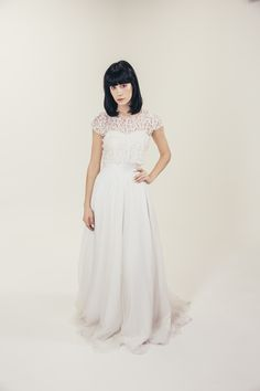 RTW Collection || E&W Couture || Fluer Crop || Seperates || Bridal Seperates || Alternative wedding dress
