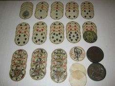 """Incredible, antique circular playing cards: Sutherland's Circular """"oon Cards_ AUTHENTIC ANTIQUE_1875 - 1918."""