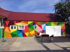 Inspiring mural for school.
