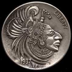"""Mostly it is loss which teaches us about the worth of things.""     ~ Arthur Schopenhauer  Artist: Alex Ostrogradsky Hobo Nickel 1936:  Aztec Profile   ॐ lis"