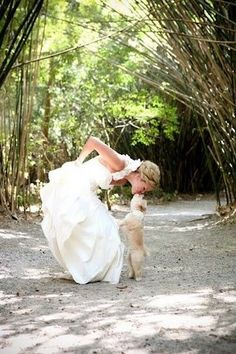 The bride and her best dog