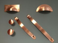 Croft Assinder Monmouth Handle Range - Copper Finish. 64mm Holecentre Square Cup Handle- 102mm long - 48mm High. These handles are all Beautifully hand made in England are are made to the highest quality, they are finished in a polished copper finish making them very unique and add that finishing touch too any room. | eBay!