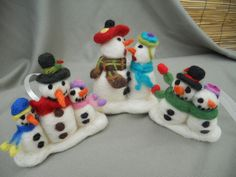 needle felted christmas decoration by Soo Sun, via Flickr