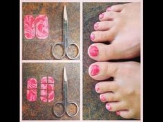 How to Apply Jamberry Nail Wraps to your Toes!  See my site for information about Jamberry: kimryser.jamberrynails.net