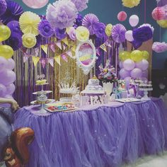 sofia the first birthday party ideas tulle table skirttable