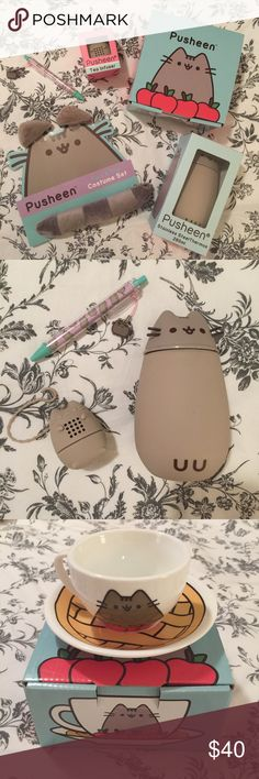Pusheen Box Exclusives Bundle Assorted items from assorted Pusheen boxes. All items are exclusive to the Pusheen Boxes! Includes a Pusheen costume (ears and tail), a Pusheen tea cup and plate set, a Pusheen stainless steal thermos, a Pusheen pen, and a Pusheen tea infuser. Perfect holiday gift 🎁 (Tagged to PINK for exposure) PINK Victoria's Secret Other