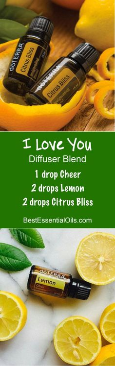 The smell of love in the air. Try one or all of these doTERRA Valentine's Day Diffuser Blends to spice things up with a smell of romance. Essential Oil Uses, Doterra Essential Oils, Natural Essential Oils, Doterra Blends, Citrus Bliss Doterra, Citrus Lemon, Essential Oil Diffuser Blends, Doterra Diffuser, Doterra Recipes