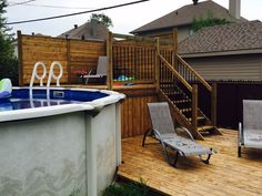 Us design patios for above-ground pools. We can advise you on the future of your pool to optimize your fac
