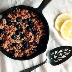 Blueberry Lemon Crumble is a simple dessert combining sweet blueberries with tart lemon.