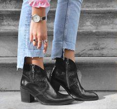 Hip D1058 black ankle boots