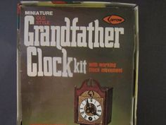 Vintage Clock Grandfather Clock Kit Dollhouse Arrow
