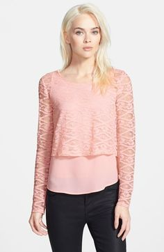 Chelsea28 Lace Overlay Top available at #Nordstrom