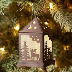 We invite you to have a look at the comfort level photos, get inspired by these Cozy Christmas Decoration Ideas Bringing The Christmas Spirit. Woodland Christmas, Cozy Christmas, Blue Christmas, Christmas Items, Country Christmas, Beautiful Christmas, All Things Christmas, Vintage Christmas, Led Lantern